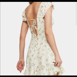Free people white with cactus flower dress
